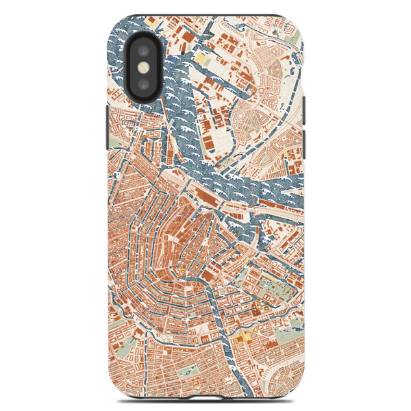Woodblock Map Phone Case