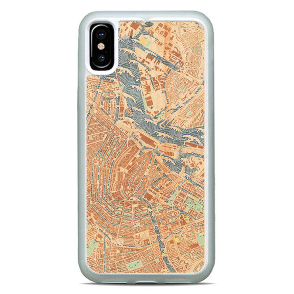 Woodblock Map Carved Phone Case