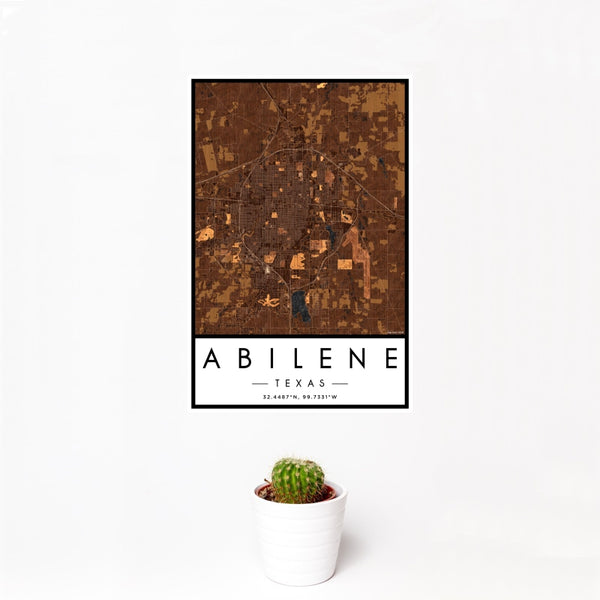 Abilene - Texas Map Print in Ember