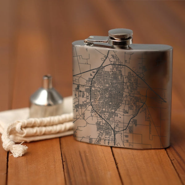 Abilene - Texas Map Hip Flask