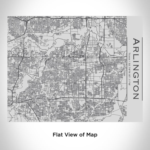 Arlington - Texas Map Bottle with Bamboo Top