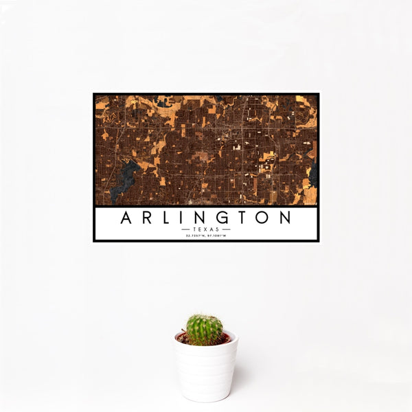 Arlington - Texas Map Print in Ember
