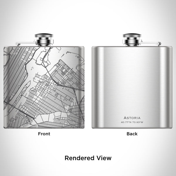 Rendered View of Astoria New York Map Engraving on undefined