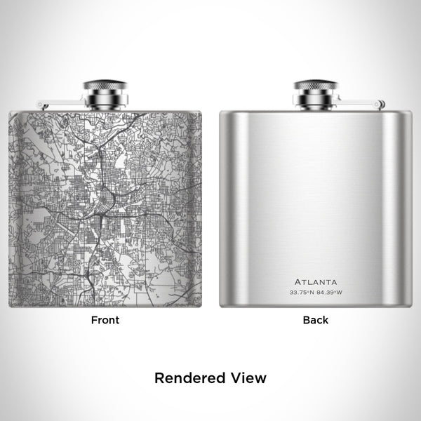 Atlanta - Georgia Map Hip Flask