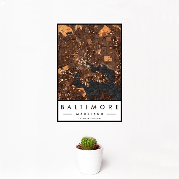 Baltimore - Maryland Map Print in Ember