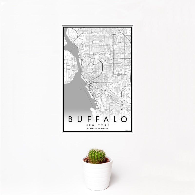 Buffalo - New York Classic Map Print