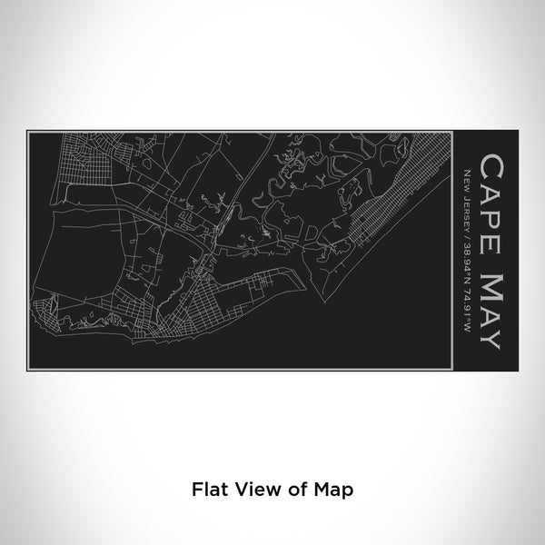 Cape May - New Jersey Map Insulated Bottle in Matte Black