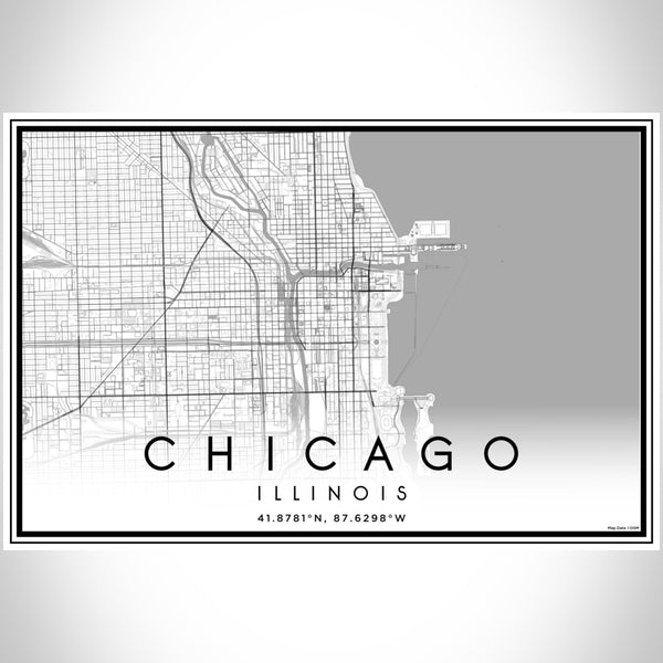 Chicago - Illinois Classic Map Print