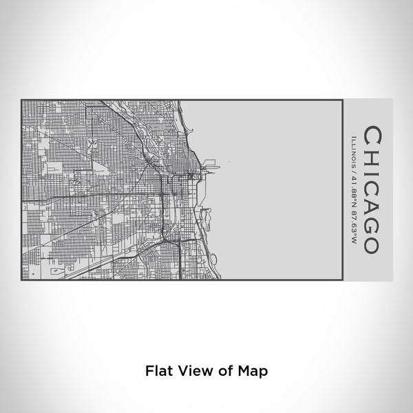Chicago - Illinois Map Insulated Bottle