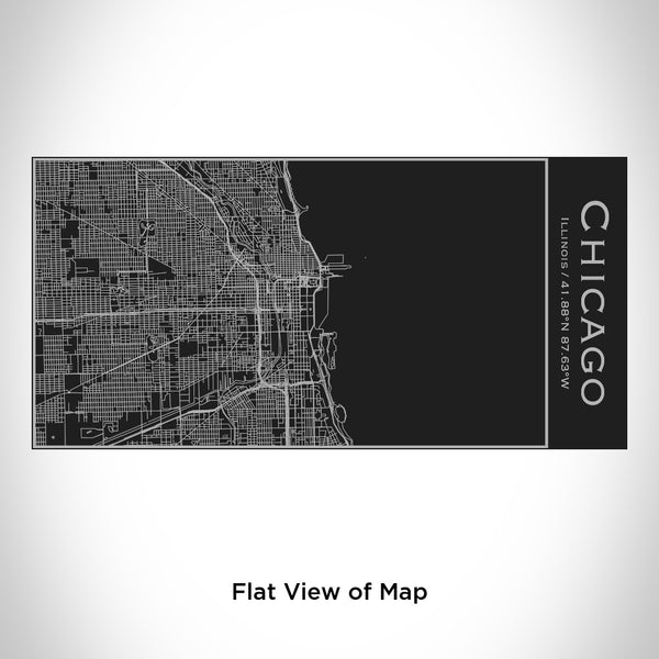 Chicago - Illinois Map Insulated Bottle in Matte Black