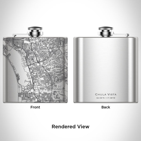 Chula Vista - California Map Hip Flask