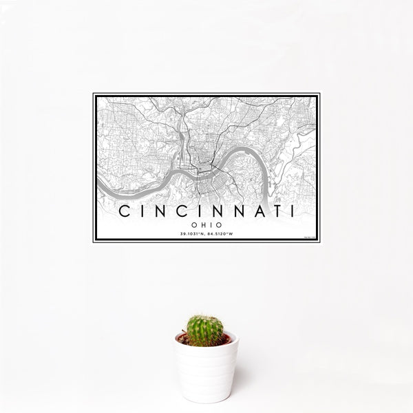 Cincinnati - Ohio Classic Map Print