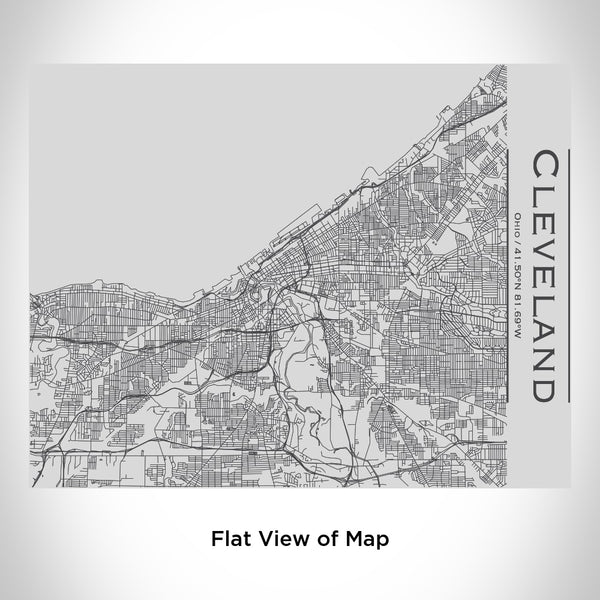 Cleveland - Ohio Map Bottle with Bamboo Top