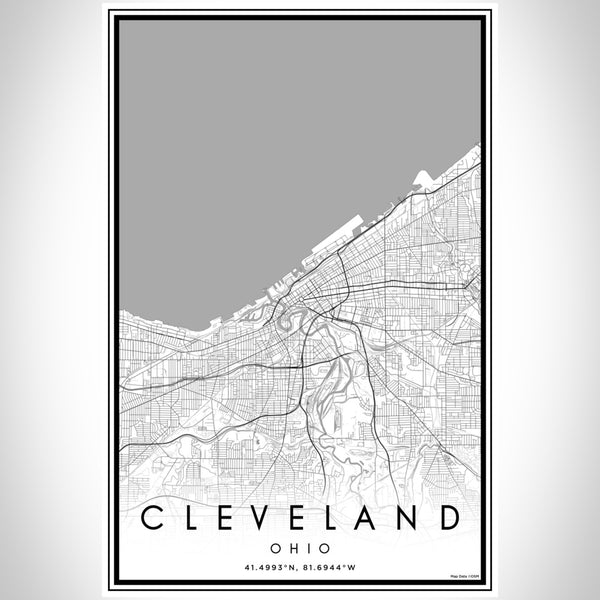 Cleveland - Ohio Classic Map Print