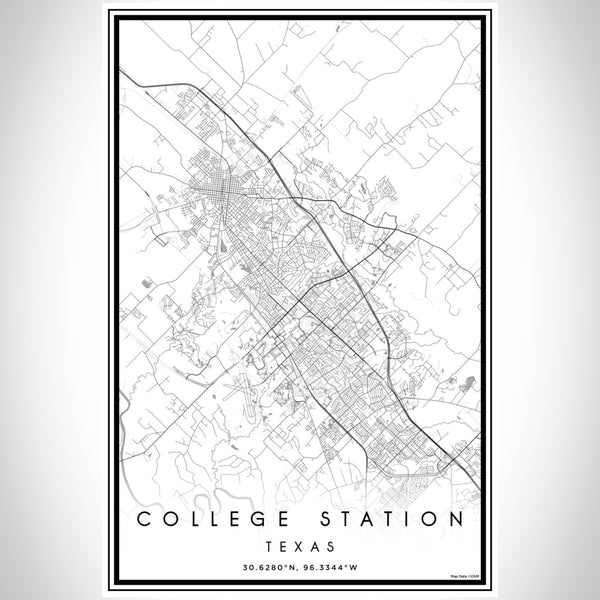College Station - Texas Classic Map Print