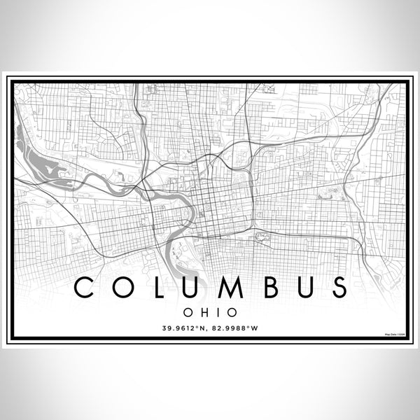 Columbus - Ohio Classic Map Print