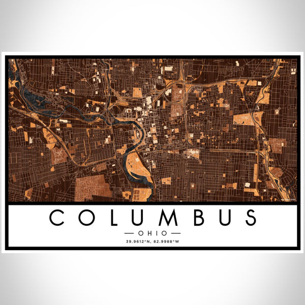 Columbus - Ohio Map Print in Ember