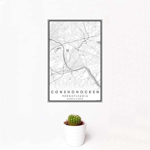 Conshohocken - Pennsylvania Classic Map Print
