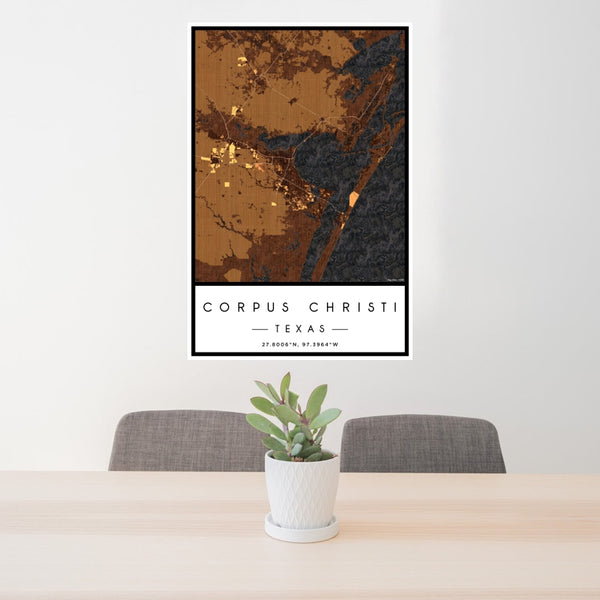 Corpus Christi - Texas Map Print in Ember
