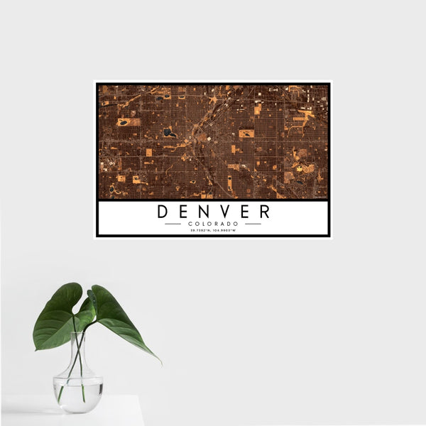 Denver - Colorado Map Print in Ember
