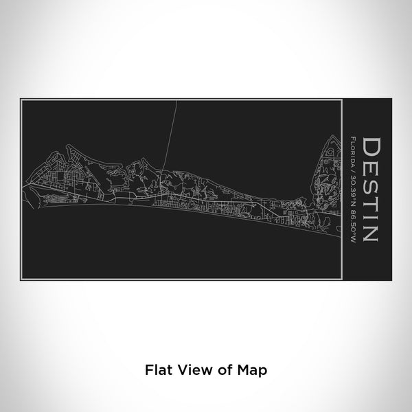 Destin - Florida Map Insulated Bottle in Matte Black