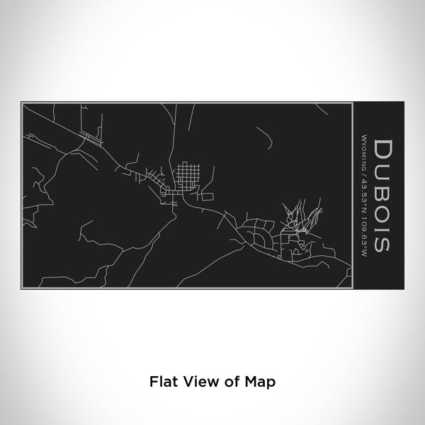 Rendered View of Dubois Wyoming Map Engraving on 17oz Stainless Steel Insulated Cola Bottle in Black