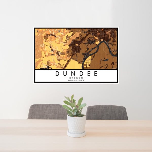 Dundee - Oregon Map Print in Ember