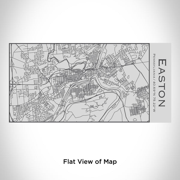 Rendered View of Easton Pennsylvania Map Engraving on 17oz Stainless Steel Insulated Cola Bottle