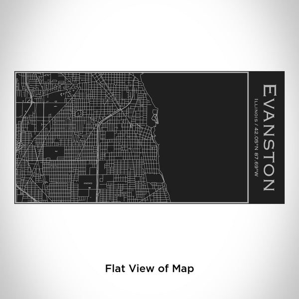 Evanston - Illinois Map Insulated Bottle in Matte Black