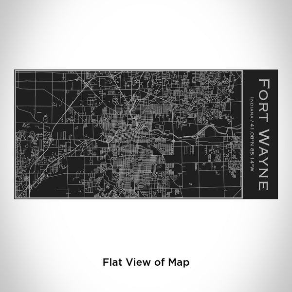 Fort Wayne - Indiana Map Insulated Bottle in Matte Black