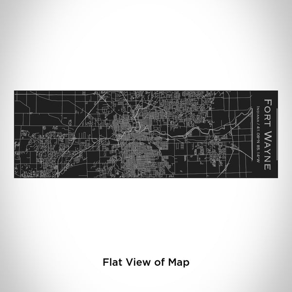Fort Wayne - Indiana Map Insulated Cup in Matte Black