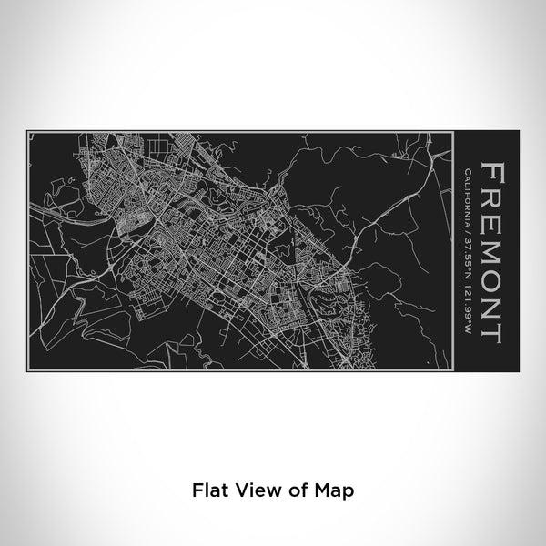 Fremont - California Map Insulated Bottle in Matte Black