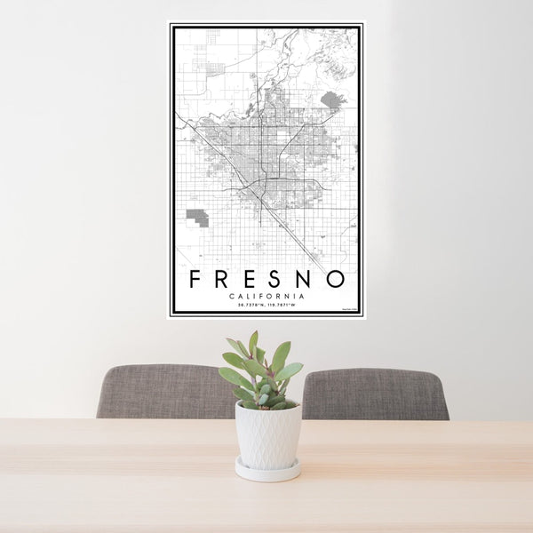 Fresno - California Classic Map Print