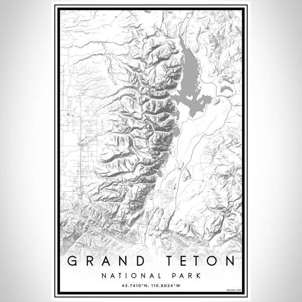 Grand Teton - National Park Classic Map Print