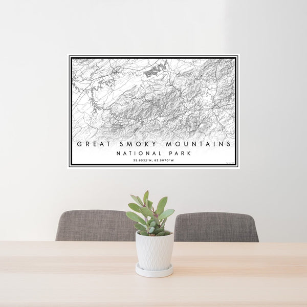 Great Smoky Mountains - National Park Classic Map Print