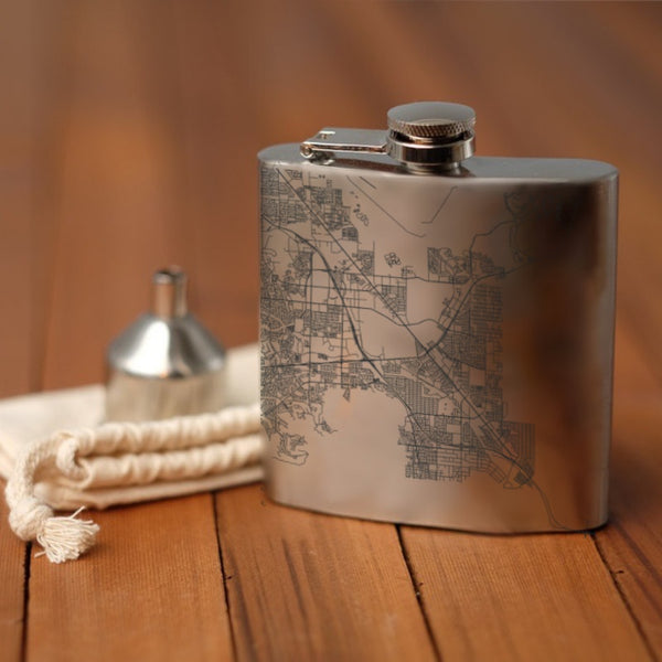 Henderson - Nevada Map Hip Flask