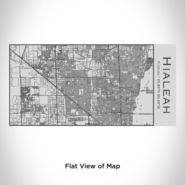 Hialeah - Florida Map Insulated Bottle