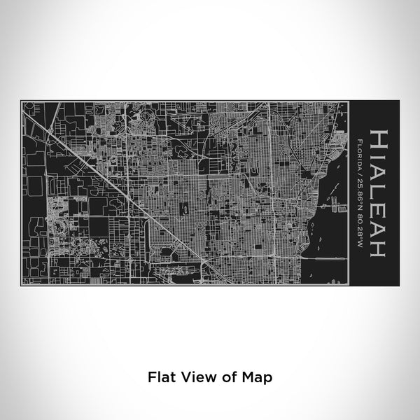 Hialeah - Florida Map Insulated Bottle in Matte Black