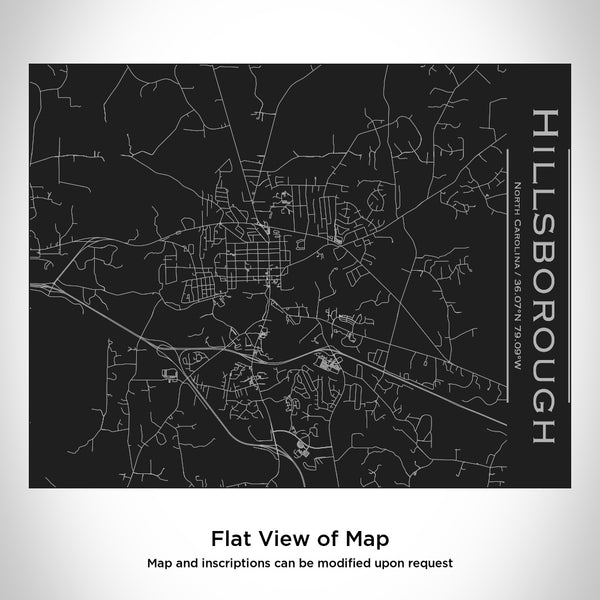 Hillsborough - North Carolina Map Bottle with Bamboo Top in Matte Black