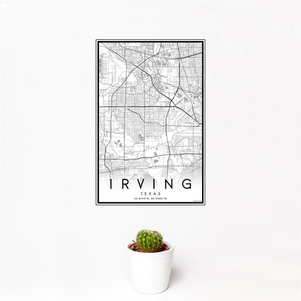 Irving - Texas Classic Map Print