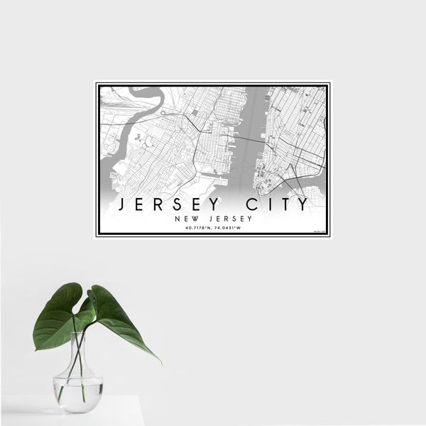 Jersey City - New Jersey Classic Map Print