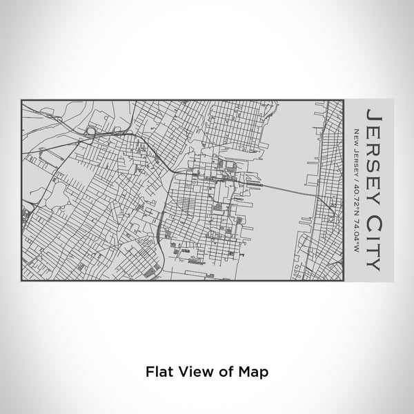 Jersey City - New Jersey Map Insulated Bottle