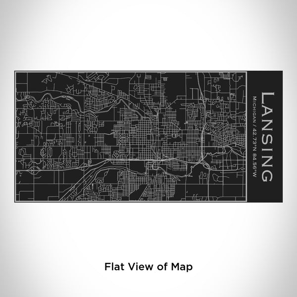 Lansing - Michigan Map Insulated Bottle in Matte Black