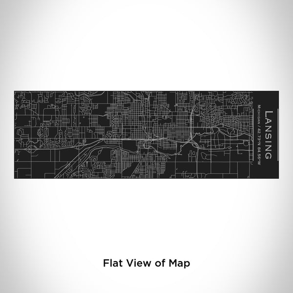 Lansing - Michigan Map Insulated Cup in Matte Black