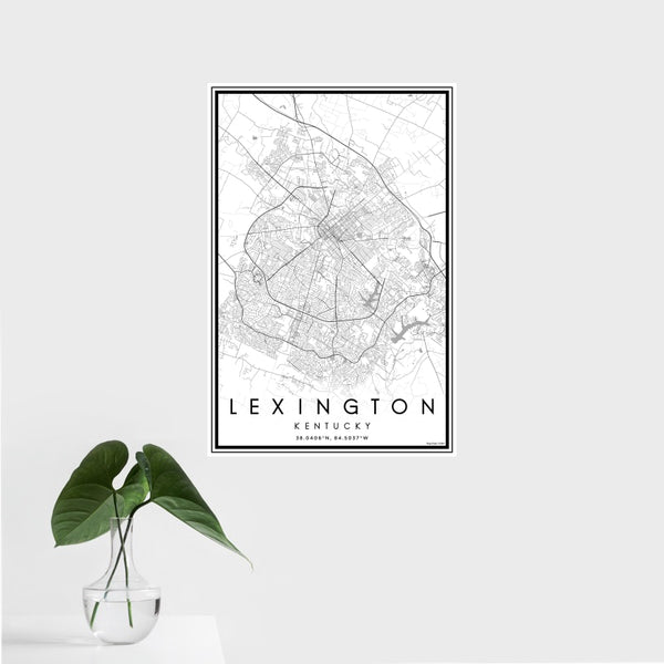 Lexington - Kentucky Classic Map Print