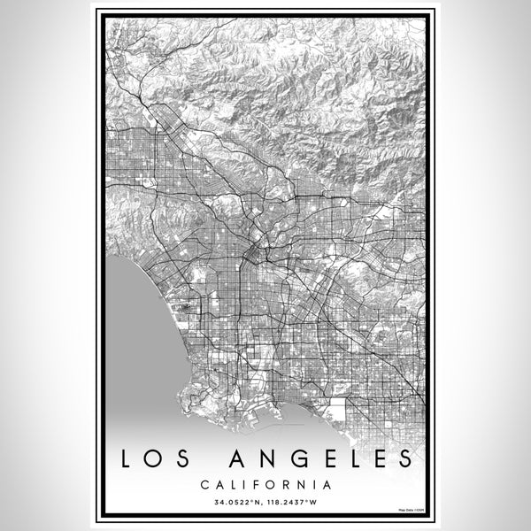 Los Angeles - California Classic Map Print