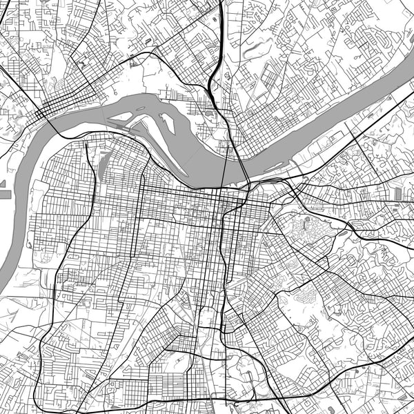 Louisville - Kentucky Classic Map Print