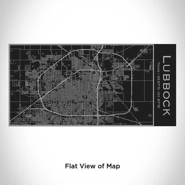 Lubbock - Texas Map Insulated Bottle in Matte Black