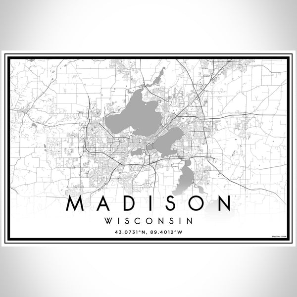 Madison - Wisconsin Classic Map Print