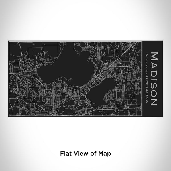 Madison - Wisconsin Map Insulated Bottle in Matte Black